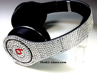 Beats by Dre Headphones made with Swarovski by TheILLlines