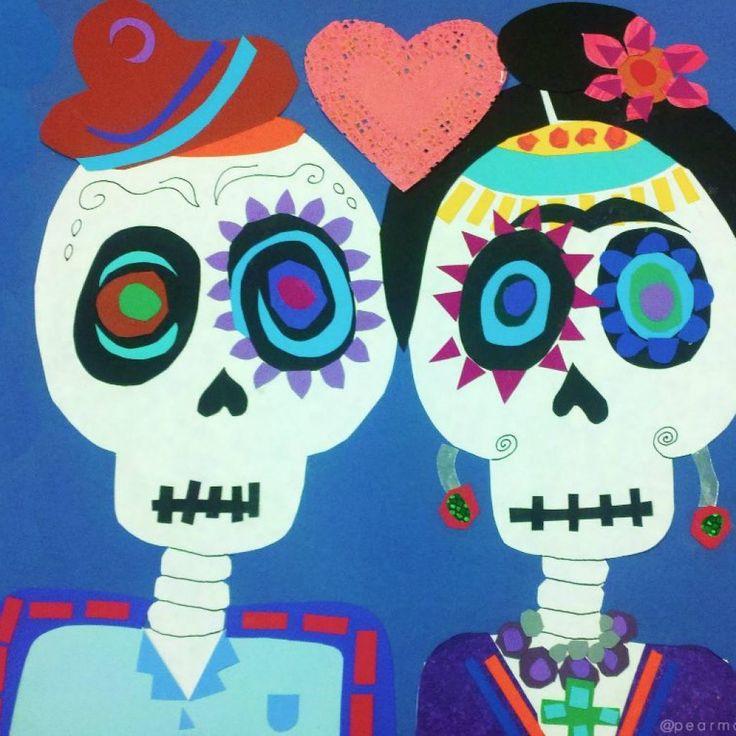 Dia de los Muertos-inspired Paper Collage for Kids