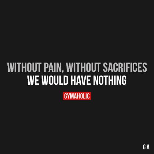 Without Pain, Without Sacrifices