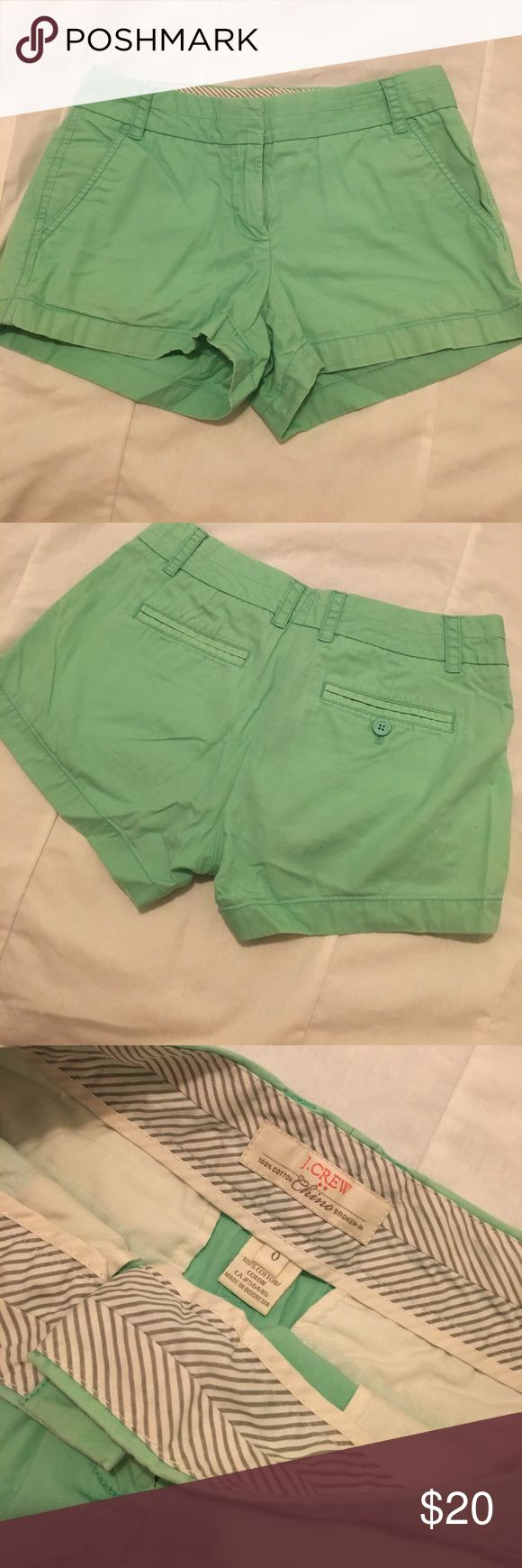 Mint green chino shorts Super cute mint green chino shorts perfect for the beach and summer time! J. Crew Shorts