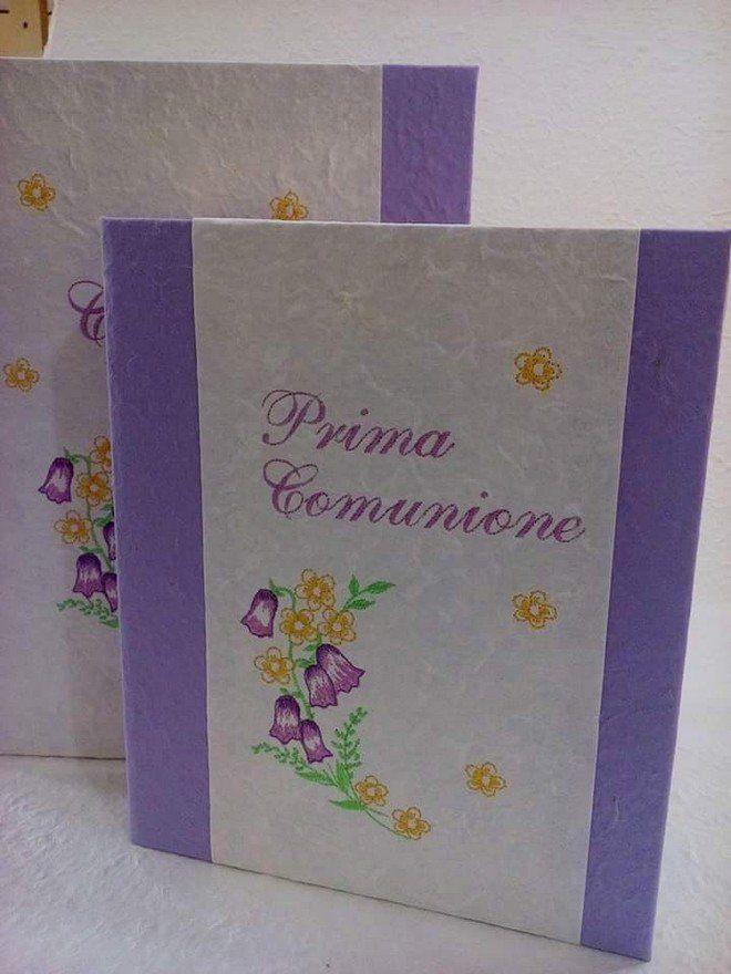 Album foto e scatola in carte naturali ricamate con possibilità di personalizzazione, by Mondo Regalo, 65,00 € su misshobby.com