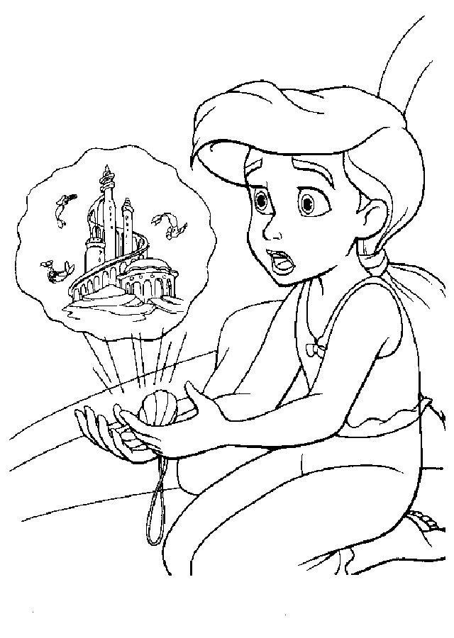 La Sirenita Para Colorear Cartoon Coloring Pages Cute Coloring Pages Coloring Pages