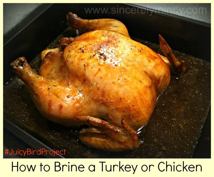 Wow your guests with the juiciest, and most flavorful turkey they have ever tasted this Thanksgiving! How to Brine a Turkey or Chicken #JuicyBirdProject