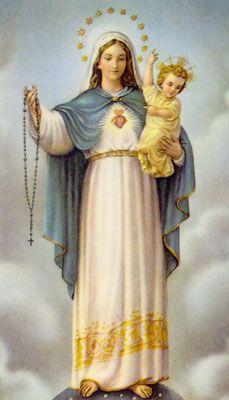 En cada una de sus apariciones, la Virgen María nos invita a rezar el Rosario como un Arma Poderosa en contra del maligno, para traernos la verdadera Paz.