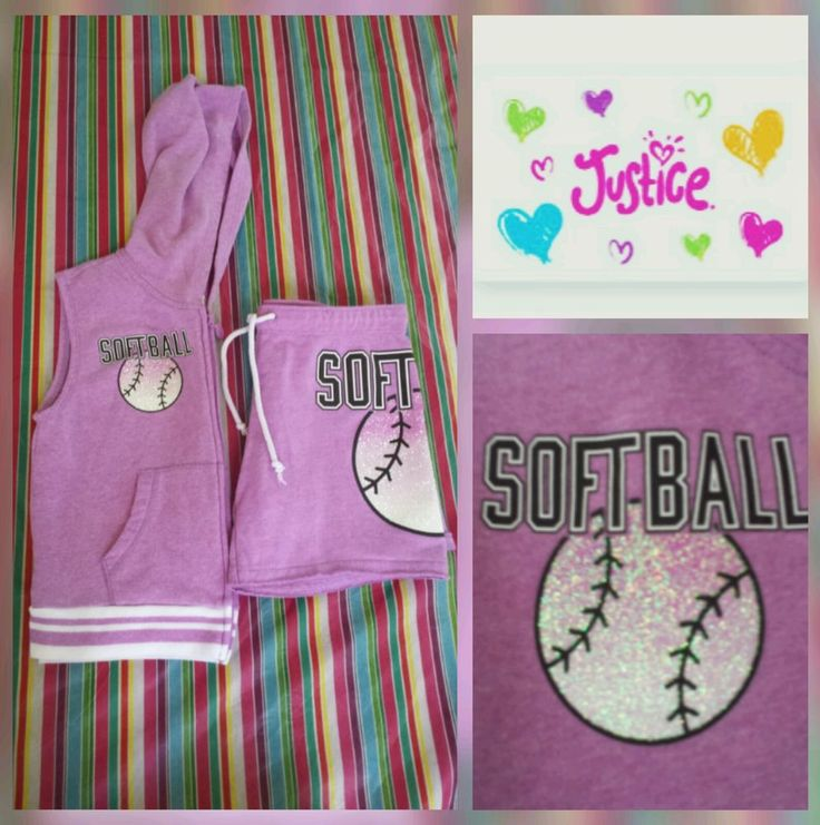 Justice 14 Vest Shorts Outfit Softball Purple Glitter Lavender Sparkle  #Justice #Outfit #GamedayEverydaySchool