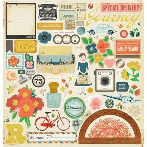 American Crafts - Crate Paper - Story Teller Collection - 12 x 12 Chipboard Stickers - Accents at Scrapbook.com $5.49