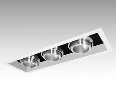 """3G Lighting : Recessed Madison    Adjustable architectural recessed luminaires featuring a 3/4"""" trim flange and solid aluminum, lockable, double gimbal lamp holders in a variety of lamp sources. Suitable for down lighting and accent lighting in interior spaces where performance and design matter."""