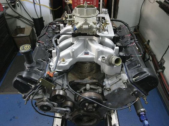 Check out this Ford engine, a Ford 4.6l 2v engine, this engine is getting a Edelbrock Victor Jr intake manifold and a MSD ignition, Featured in the April 2008 issue of Hot Rod Magazine or at hotrod.com.