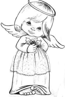 Les 72 meilleures images du tableau coloriage d 39 ange sur - Dessin d ange gardien ...