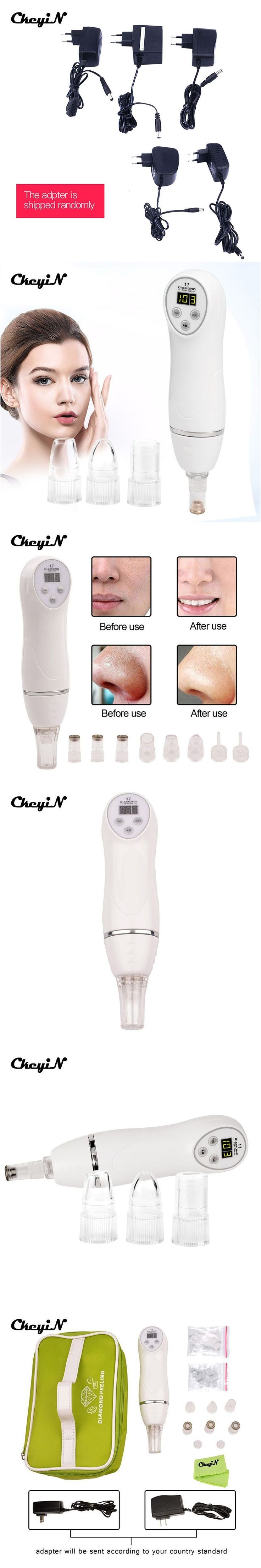 Multi-functional Electronic Facial Skin Dermabrasion Microdermabrasion Diamond Peel Beauty Instrument Scars Acne Marks removal