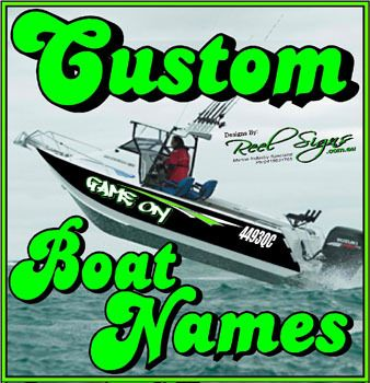 Cele Mai Bune De Idei Despre Boat Name Decals Pe Pinterest - Vinyl decals for boatsstreetglo boat name lettering and graphic decalsphotos in vinyl