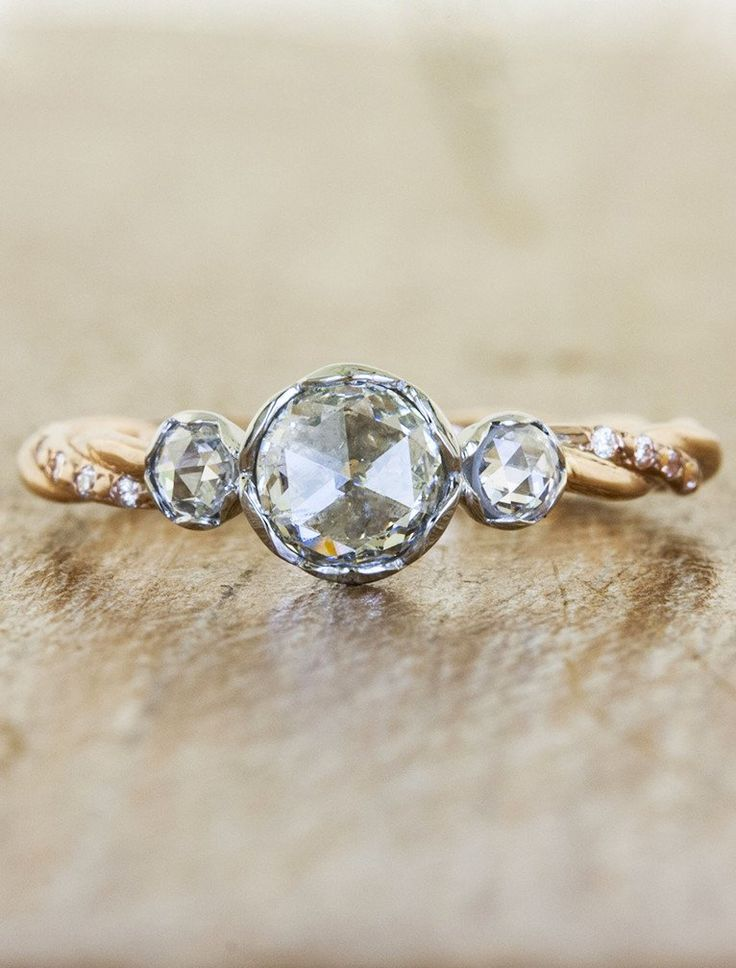 Best Three Stone Engagement Rings Images On Pinterest Diamond