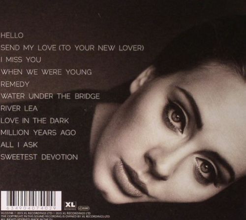 Adele - 25 Album <3 ;') Absolutely Love and Addicted to her new album. <3 Just gives you the feels ;'( <3