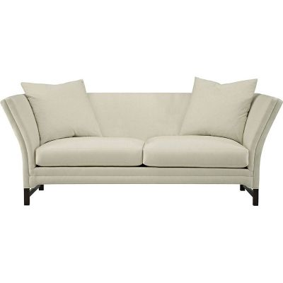 """88""""  & LOVESeat  Pershing Sofa  Hickory's Pershing Sofa with exposed legs is a modern interpretation of a classic Knoll design paired with a clean Danish-inspired exposed American Walnut base."""