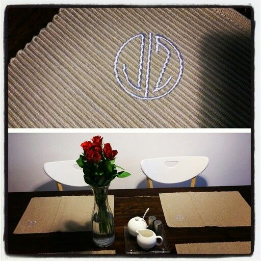 My own monogram on place setting