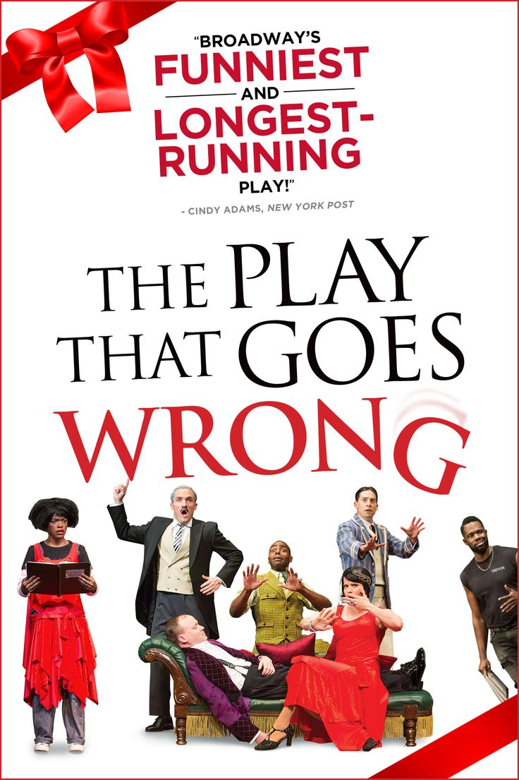 THE PLAY THAT GOES WRONG on Broadway at the Lyceum Theatre.