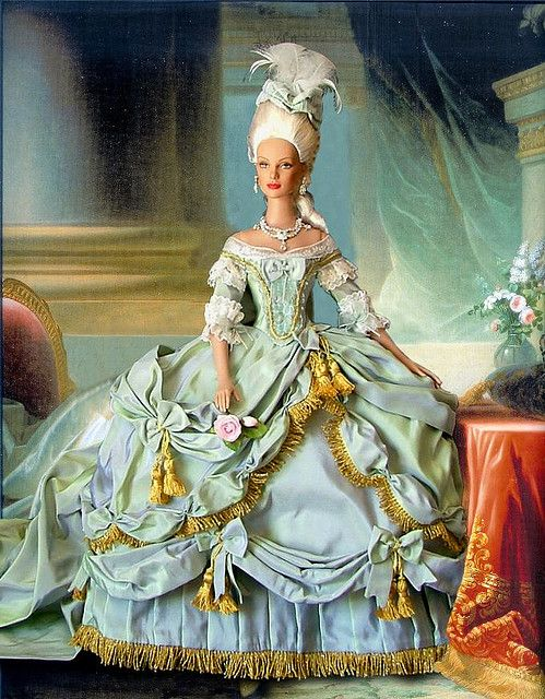 Marie Antoinette Barbie - all she needs is a piece of cake, and more shoes.... and a boat hat....