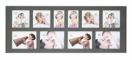 Deknudt Frames S40ZA7G10 Bilderrahmen Collage, Galerierahmen, Holz, 4 x (13 x 13) + 2 x (8 x 13) + 4 x (13 x 18) cm, Grau