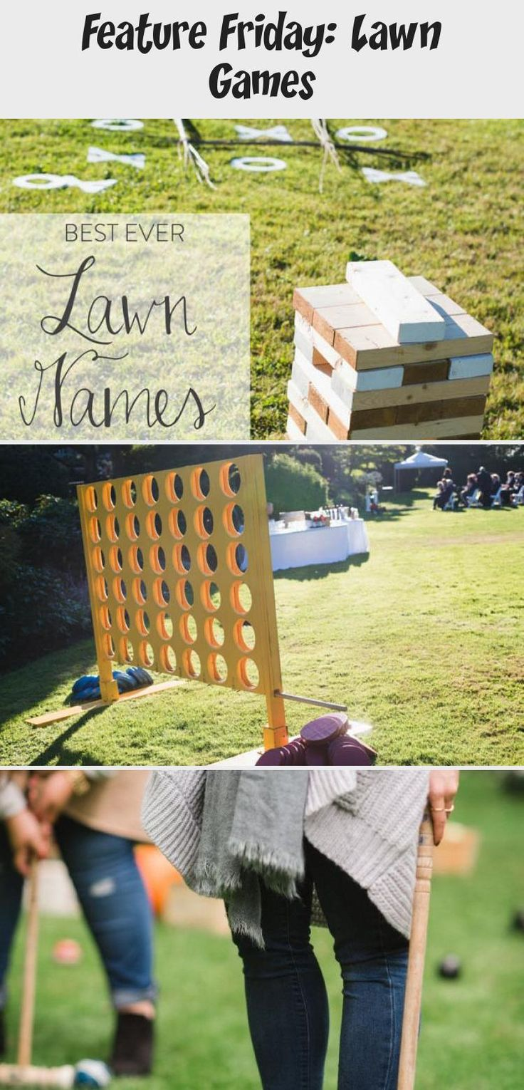Jan 29, 2020 - Best ever Lawn Games for Weddings The Inn has a yard in the back and encourages bringing lawn games to play for the reception!! Corn hole, anyone? Haha
