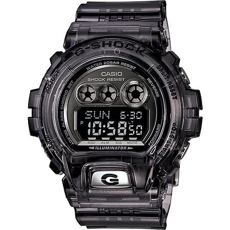 The XL G-Shock GDX6900FB-8B crystal grey digital watch is bigger and better than ever with a clear grey construction. This XL G-Shock watch has everything you expect from the G-Shock 6900 series including a long lasting battery and multiple timekeeping fu