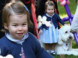 The youngsters were guests of honour at a garden party held in the grounds of Government House, Victoria, British Columbia, tomark their first tour of Canada with their parents.