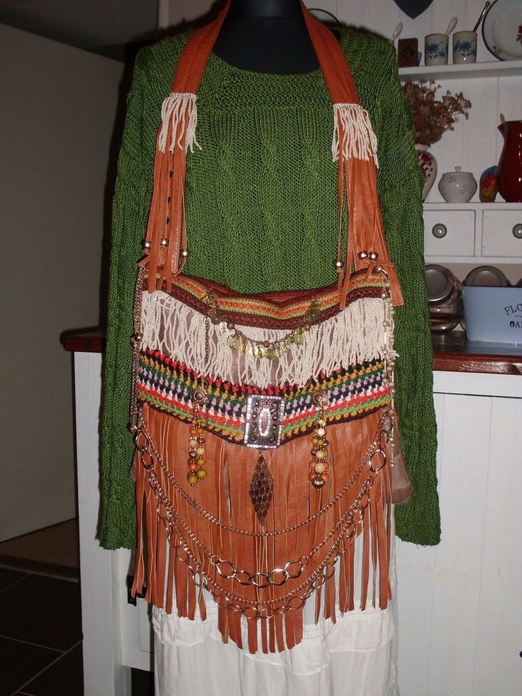 Handmade Brown Leather Fringe Jewelry Boho Gypsy Hippie Handbag Purse | Clothing, Shoes & Accessories, Women's Handbags & Bags, Handbags & Purses | eBay!