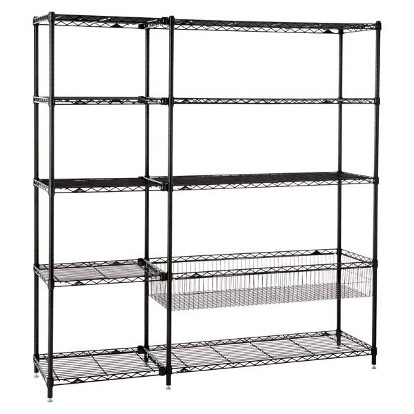 Playroom shelving. This would be for our storage room, to get stuff off the floor.