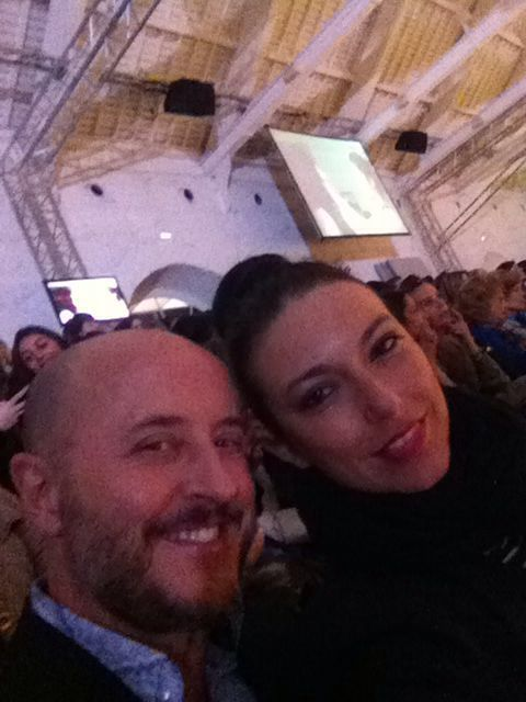 Fernanda Freitas and Sergio Figueira in the front row at the #runway #portugalfashion