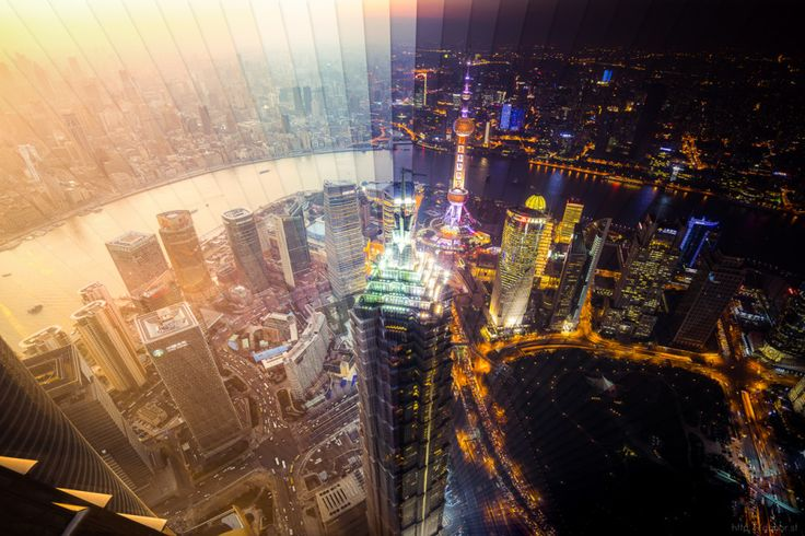 These Gorgeous Sunrises and Sunsets Are Made From Slices of Time | Shanghai: 65 photos. 1 hour 53 minutes. | Credit: Dan Marker-Moore | From Wired.com