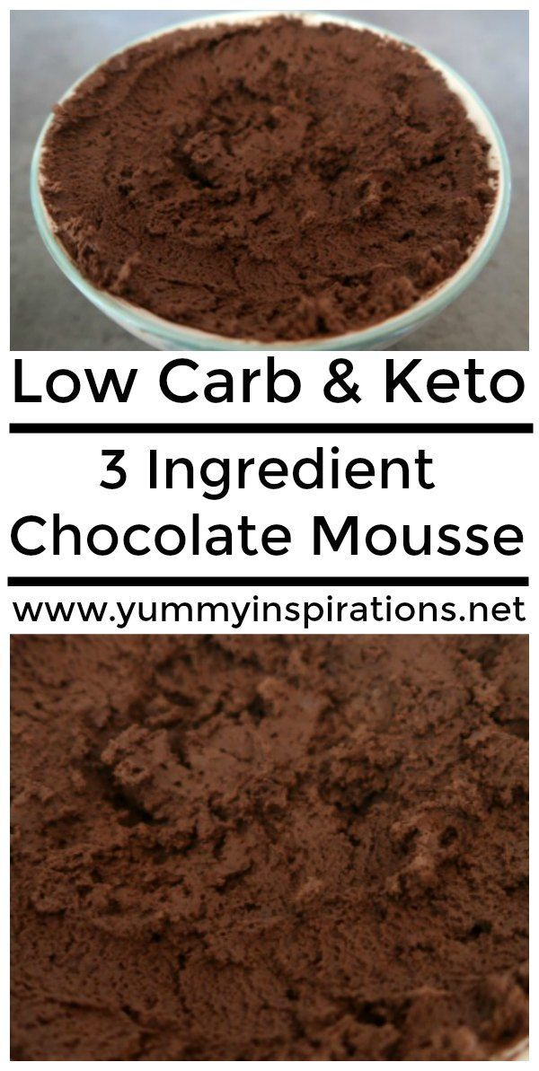 3 Ingredient Chocolate Mousse – #chocolate #dietfr…