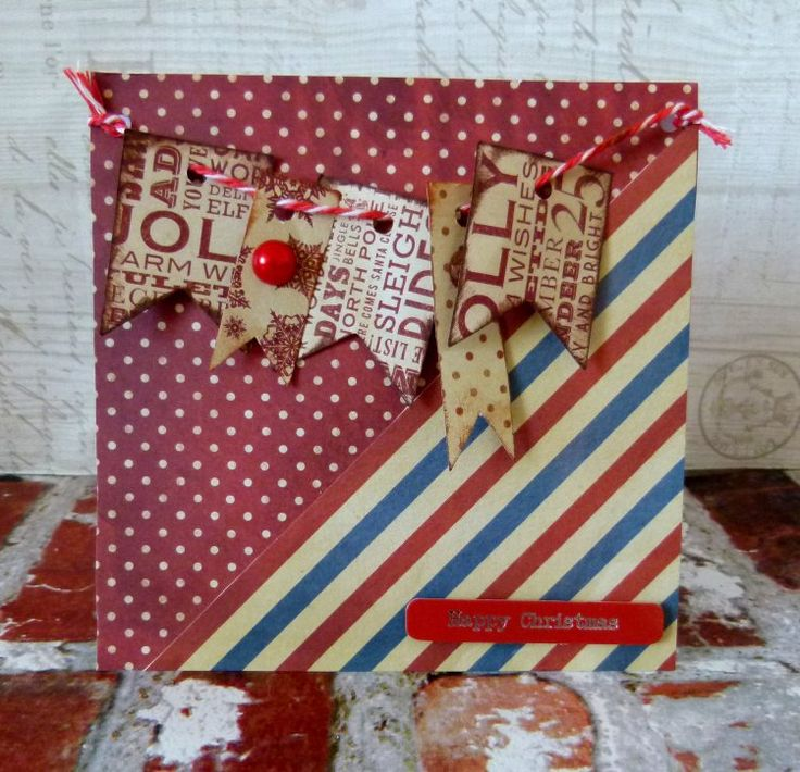Dovecraft North Pole Christmas banner card by design team member Katie