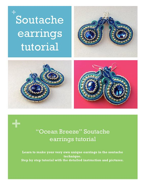 Soutache tutorial! Soutache earrings tutorial+ Peyote stitch by SouniqueJewellery