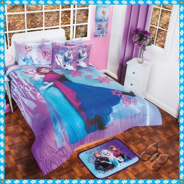 New Girls Disney Purple Blue Frozen Comforter Bedding Sheet Set Twin/Full/Queen #Disney