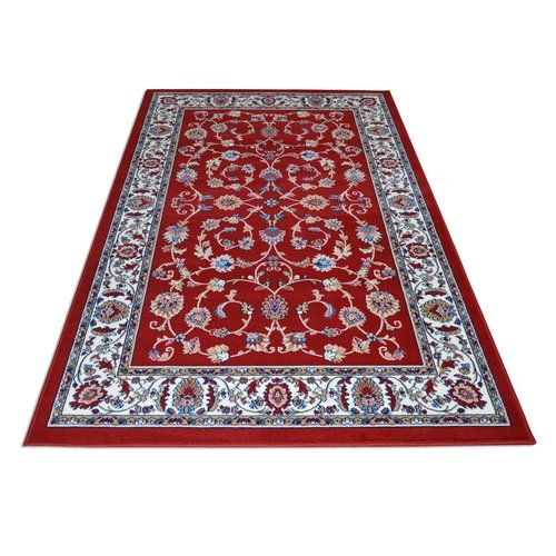 Mackenzie Persian Red Rug Longweave Rug Size Rectangle 100 X 150cm Red Rugs Rugs Aqua Rug