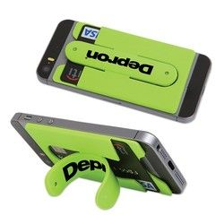 Silicone Phone Pocket with Snap Stand - Green