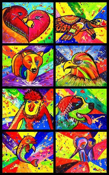 mix pop art, birds in love pop art, birds, animal pop art, bird, animal, cute, eagle, turtle, wild, elephant, dolphin, monkey, st.bernard dog, pug, julia fine art, pet, painting, love, colorful, children art, pop art, colorful, folk art, paintings, colour purple, pink, orange, yellow, green, sunshine, light green, red, blue, dark blue, fine art designer, fantasy, fine art, sunshine, dream, nature, for child, colour splash, splash, decor, wall decor, art deco, modern, contemporary…