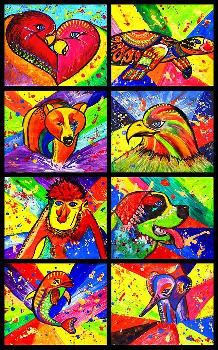 mix pop art, birds in love pop art, birds, animal pop art, bird, animal, cute, eagle, turtle, wild, elephant, dolphin, monkey, st.bernard dog, pug, julia fine art, pet, painting, love, colorful, children art, pop art, colorful, folk art, paintings, colour purple, pink, orange, yellow, green, sunshine, light green, red, blue, dark blue, fine art designer, fantasy, fine art, sunshine, dream, nature, for child, colour splash, splash, decor, wall decor, art deco, modern, contemporary…