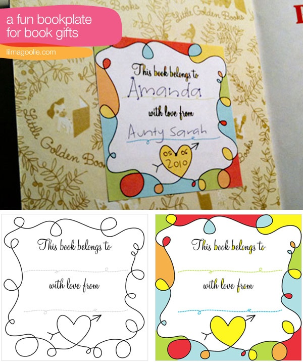 free printable bookplates templates - free printable bookplate for book gifts between the