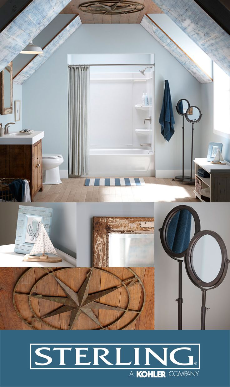 Beauty meets brawn with Sterling® Bathtub/ Shower Ensembles. Inspired by the realities of life, every shower system provides you with a place to escape the long days with a nice, rejuvenating soak. Choose from a variety of sizes, styles and colors to suit your bathroom style.