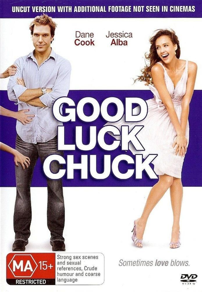 Good Luck Chuck (DVD, 2007) As New Dane Cook Jessica Alba #dvd #movies
