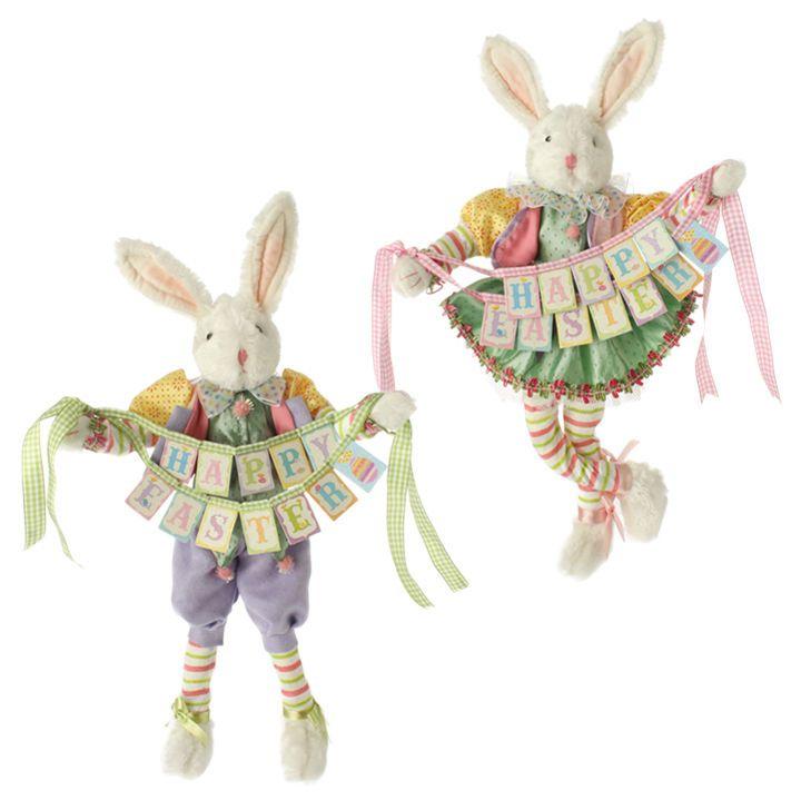 raz imports 16 pose able bunny couple easter decoration