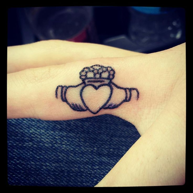 My second #tattoo. :) #claddagh #love #irish #loyalty # ...