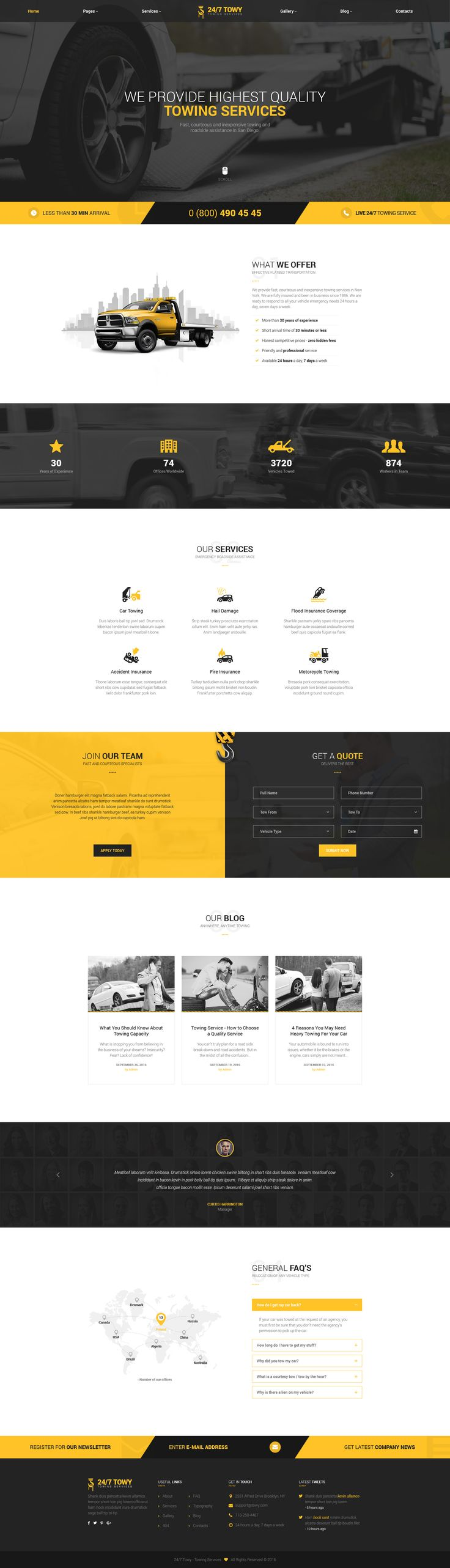 Towy - Emergency Auto Towing and Roadside Assistance Service PSD Template • Download ➝ https://themeforest.net/item/towy-emergency-auto-towing-and-roadside-assistance-service-psd-template/18237613?ref=pxcr