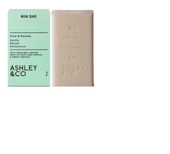 Vine & Paisley mini bar soap from New Zealand company Ashley & Co.