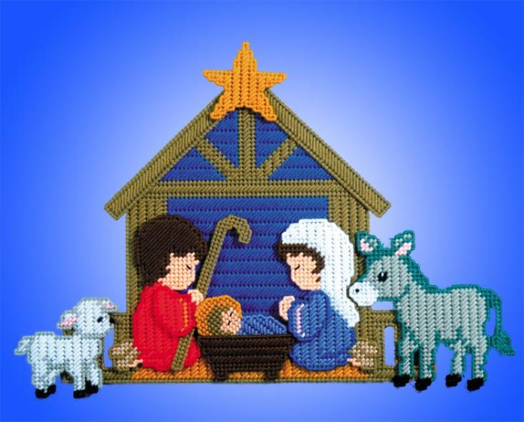 # 1603B Nativity / 7 ct/ KIT/ no dimensions given / PLASTIC CANVAS