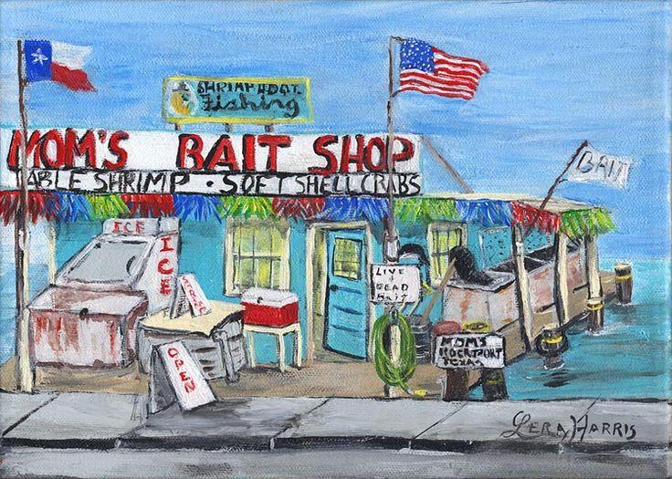 Mom's Bait Shop by Lera Harris.   Art, Painting, Art gallery