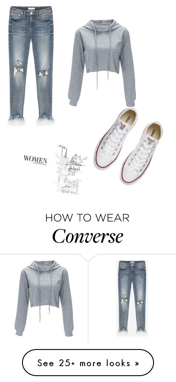 """""""Untitled #1"""" by elviiisa-besic on Polyvore featuring Converse"""