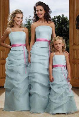 Vestidos para damas de honor que hacen juego : Novios y más