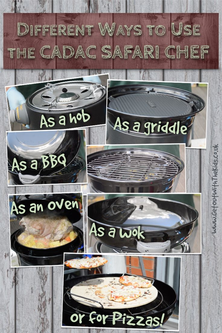Different ways to use the Cadac Safari Chef