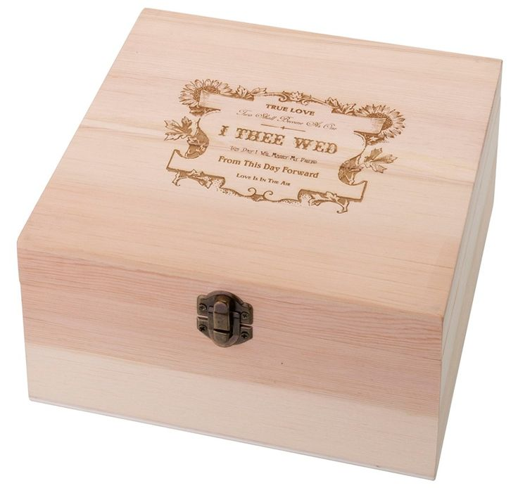 Buy I Thee Wed Design Wooden Well Wishes Card Box And Other Party Favors Personalized Gifts
